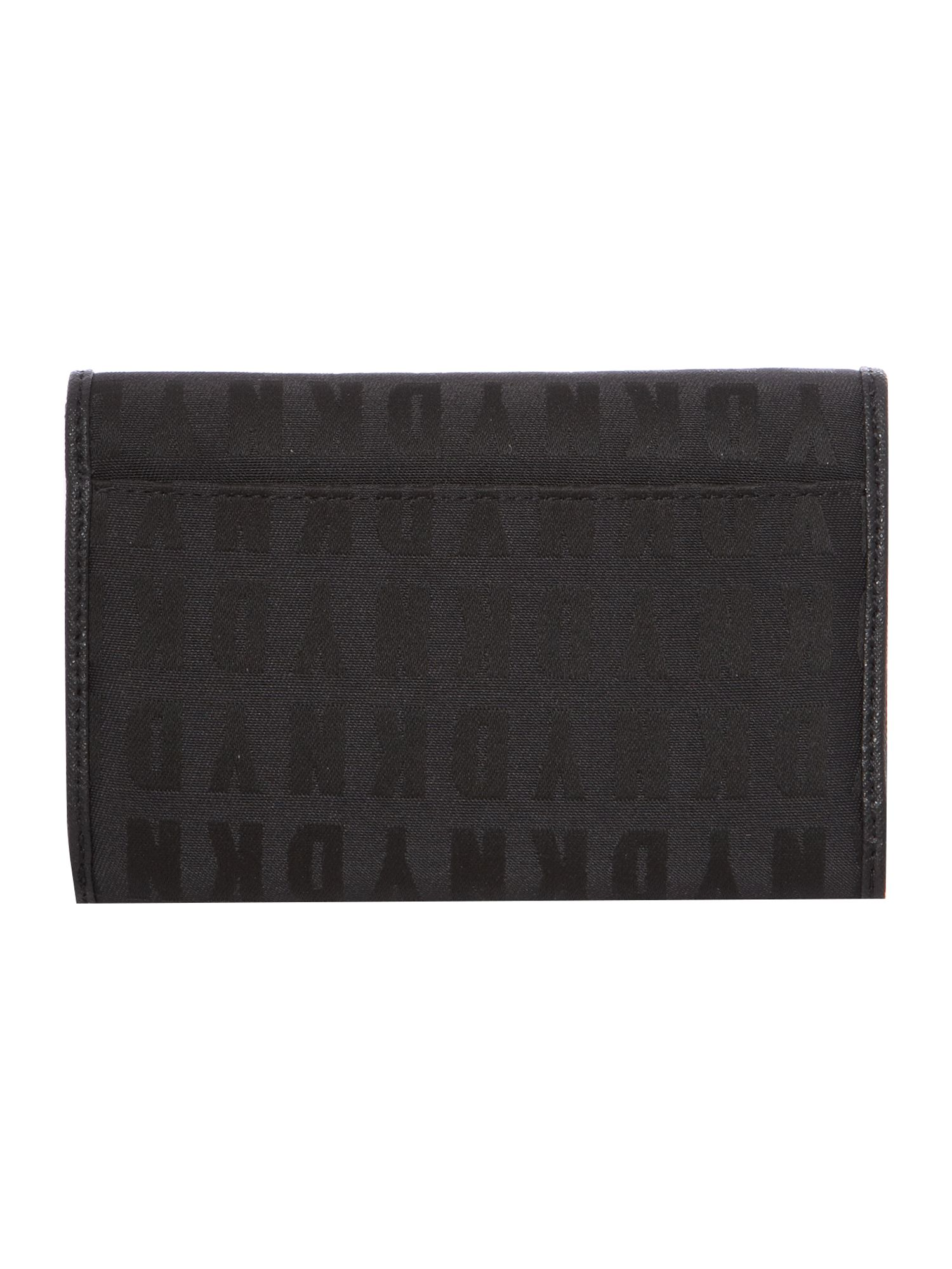 Black medium zip around purse