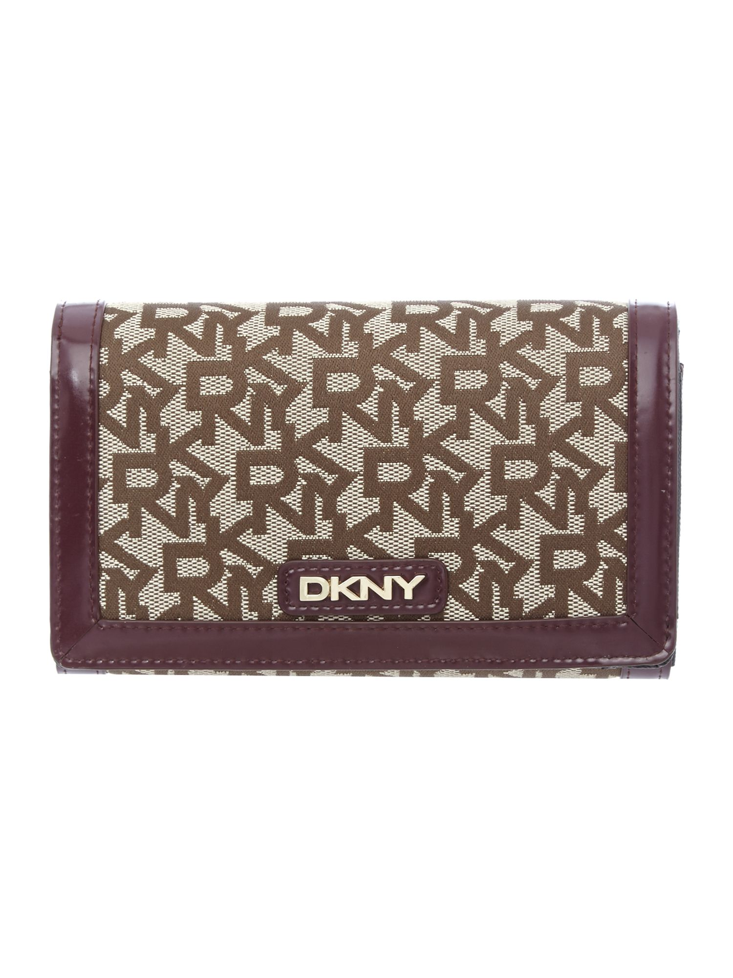 Purple medium flap over purse