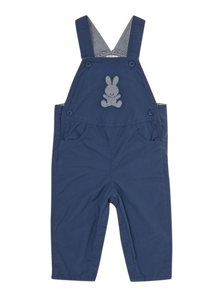 Benetton Baby dungarees with ticking stripe lining