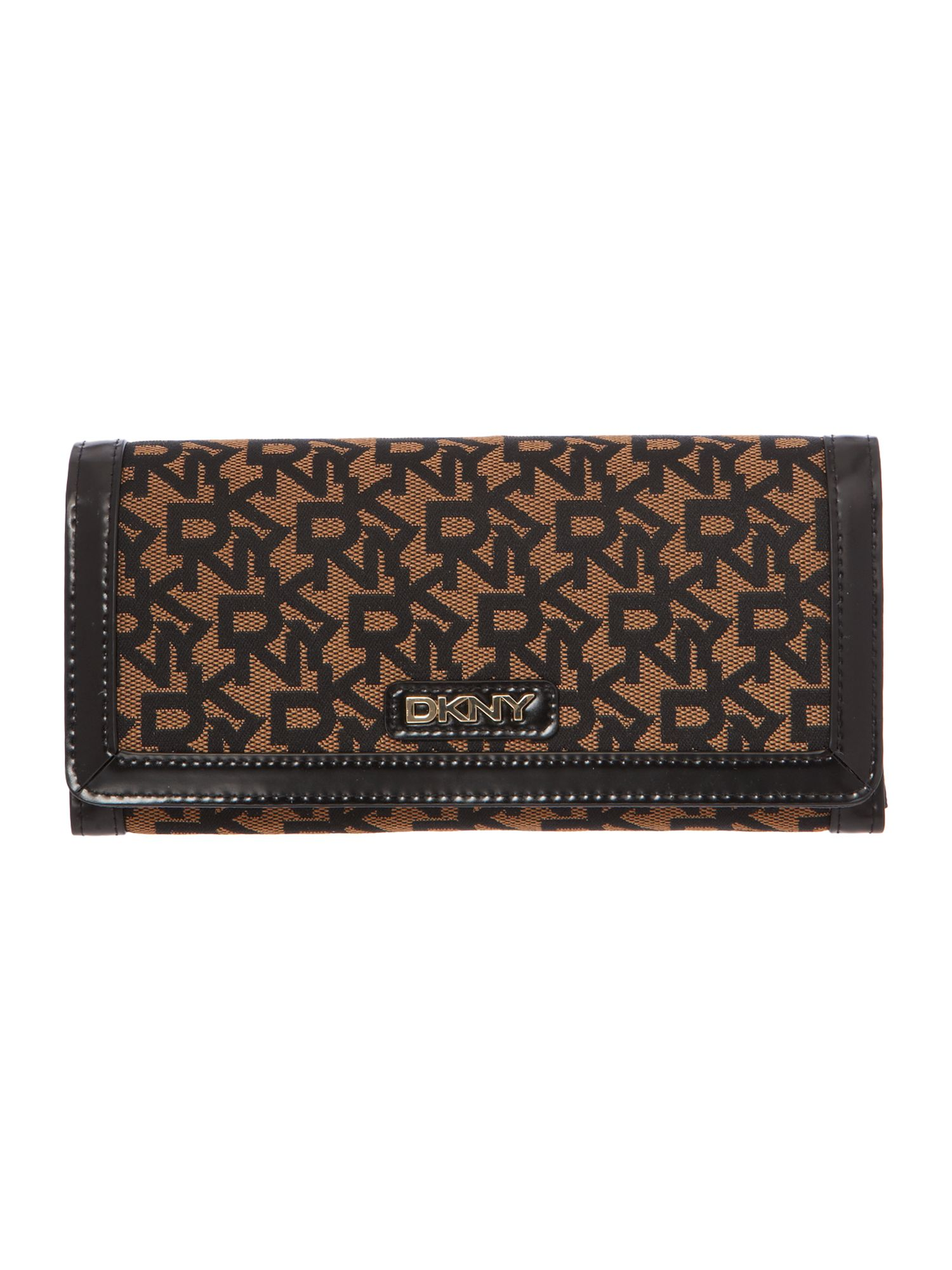Black large flap over purse