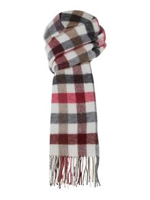 Glen Prince Medium check lambswool scarf