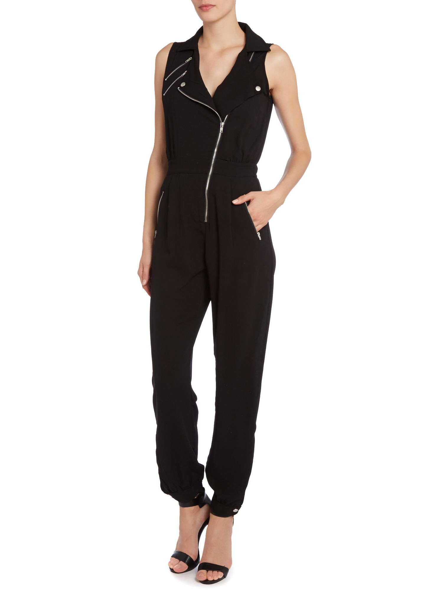ZIP DETAIL FRONT JUMPSUIT