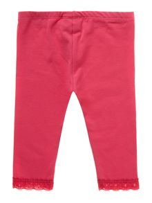 Baby girl lace trim legging