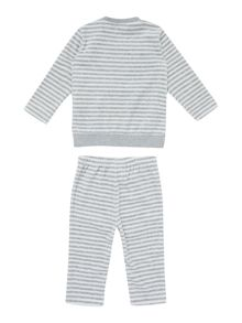 Baby striped velour tracksuit set
