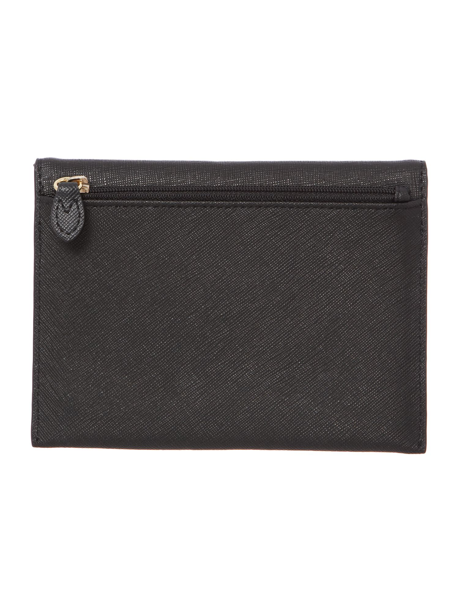Saffiano black passport case