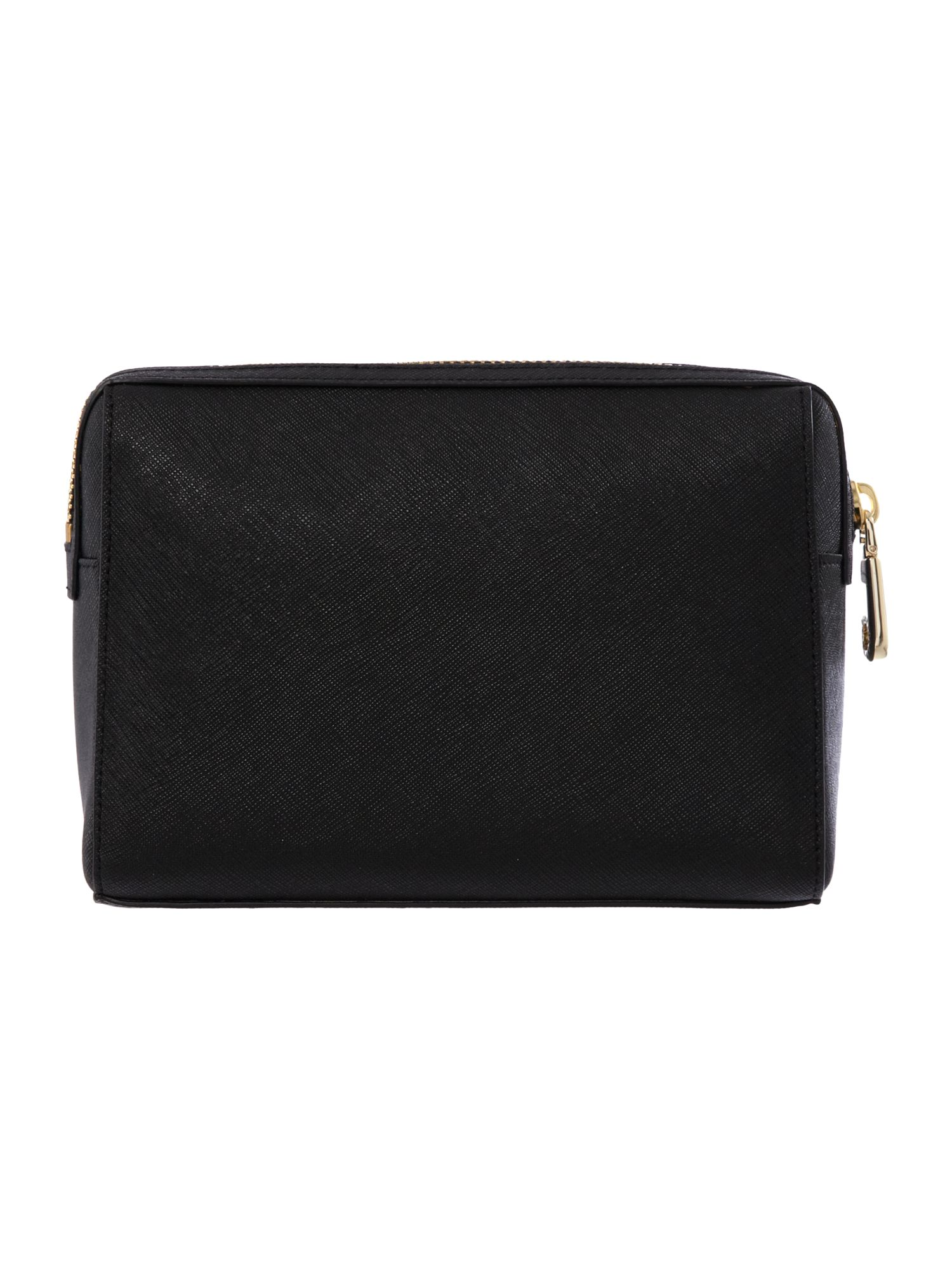 Saffiano black medium cosmetic bag
