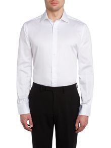 Slim fit plain sateen shirt