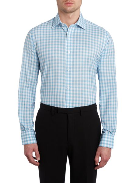 TM Lewin Slim fit end-on-end point collar shirt