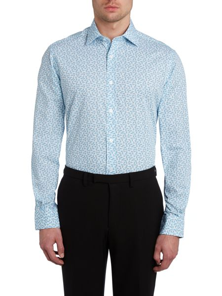 TM Lewin Slim fit rose print shirt