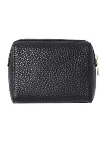 Tribeca soft black medium cosmetic bag
