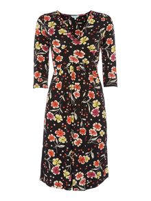 Porlethan floral jersey dress