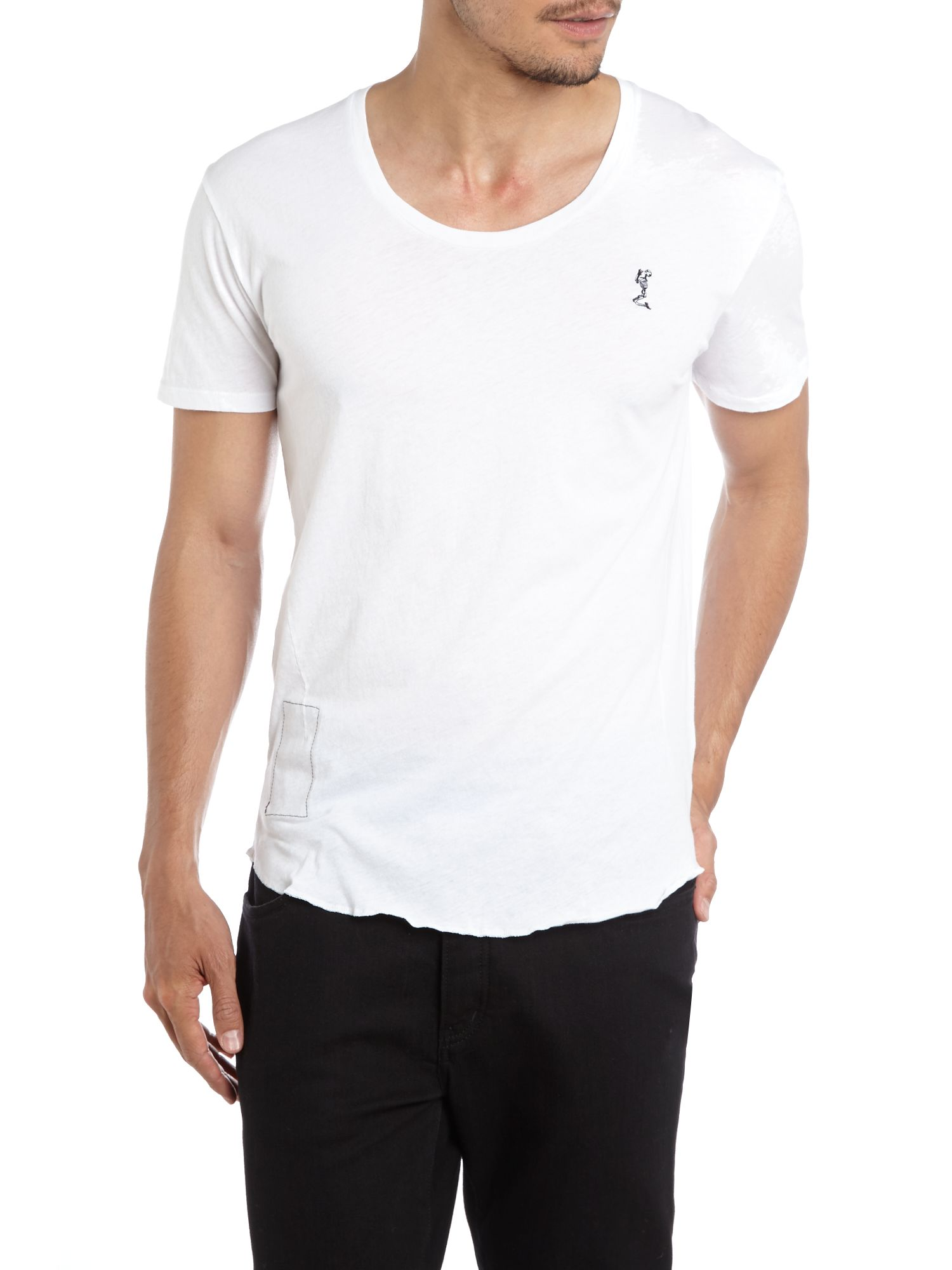 Scoop neck logo t shirt