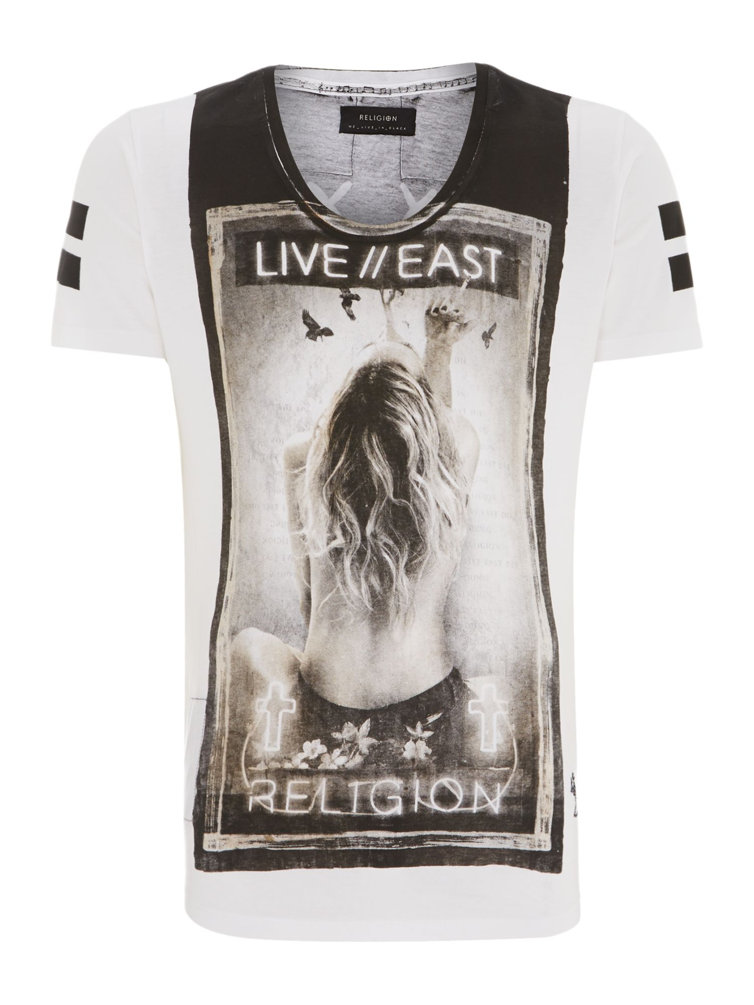 Live east graphic t shirt