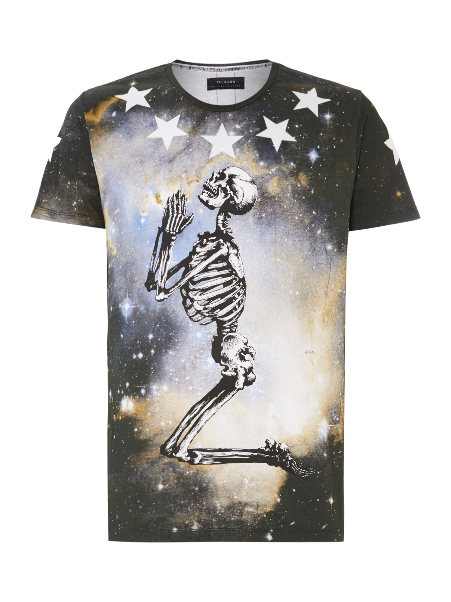 Star skeleton graphic t shirt