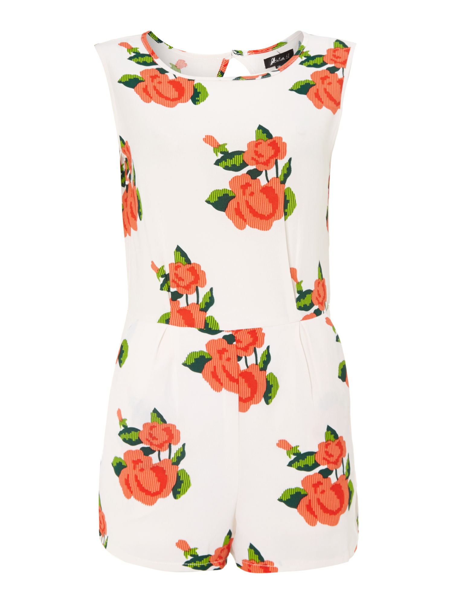 Rose Print Playsuit