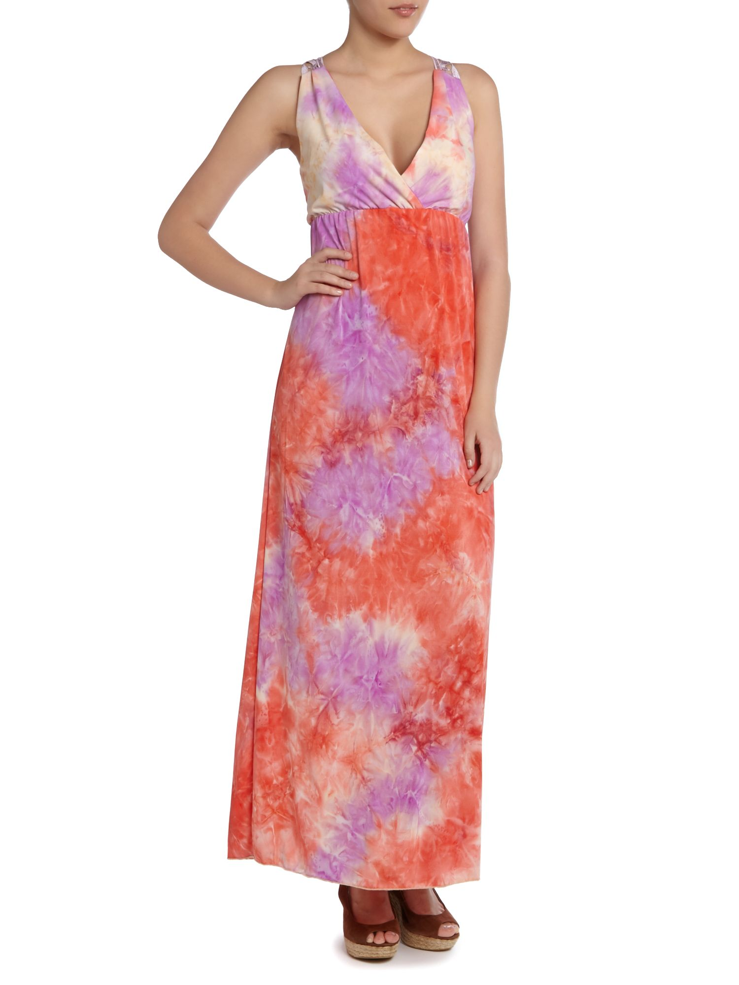 Tie Die Print Maxi Dress