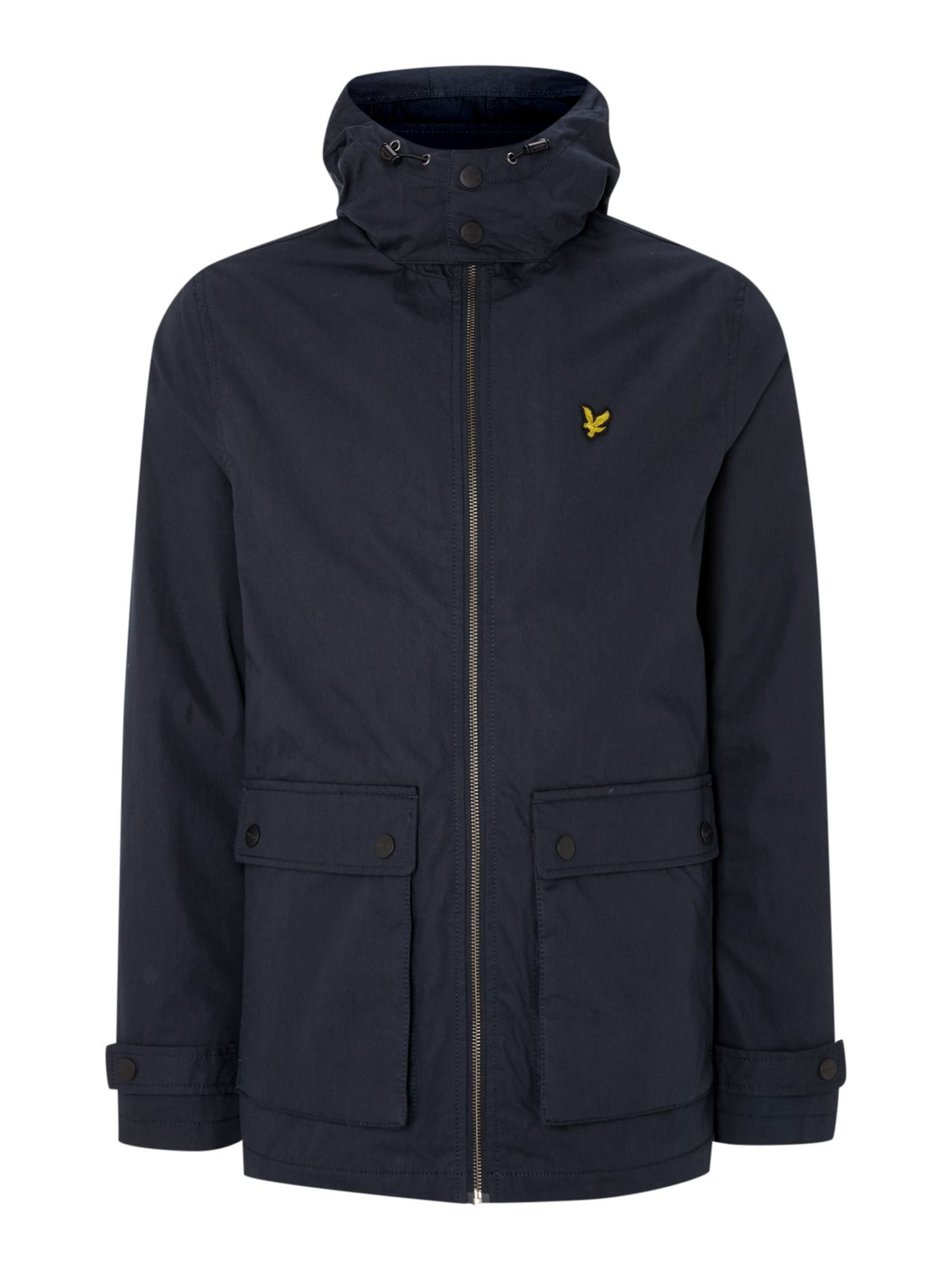Mens Lyle and Scott Microfleece lined jacket Navy