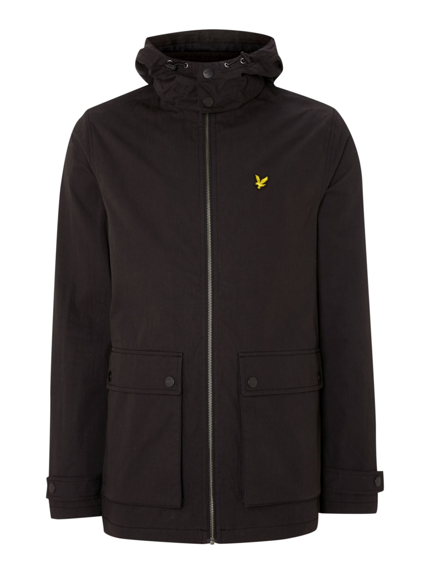 Mens Lyle and Scott Microfleece lined jacket Black