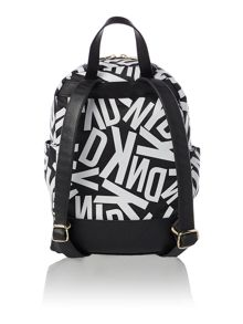 Printed multi-coloured backpack