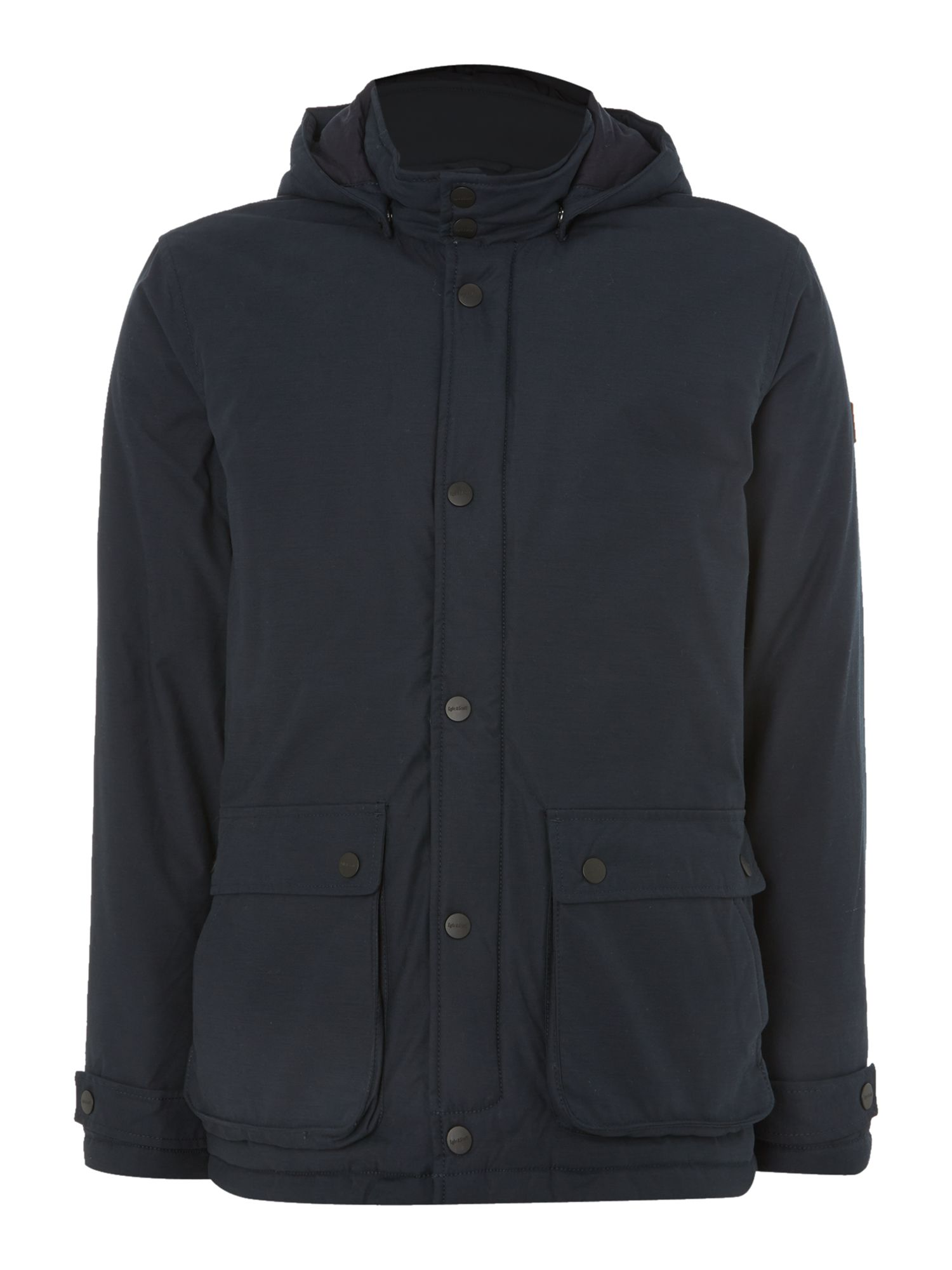 Mens Lyle and Scott Hooded parka Navy