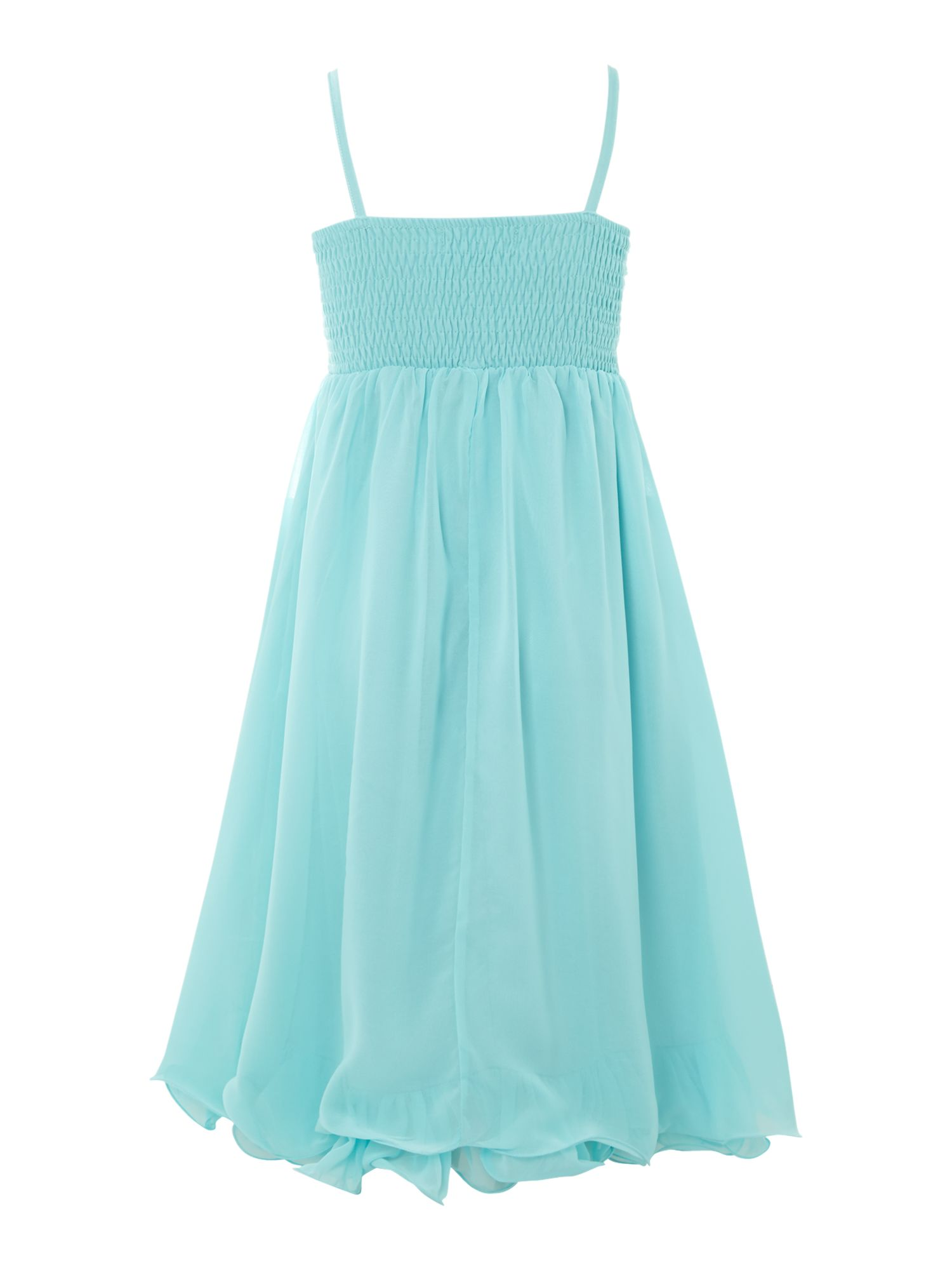 Girls rouched hem dress