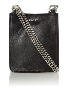 Soft leather black mini cross body