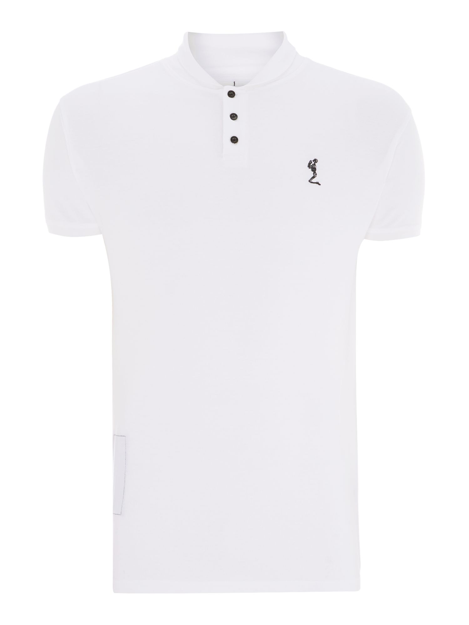 Shawl collar polo shirt