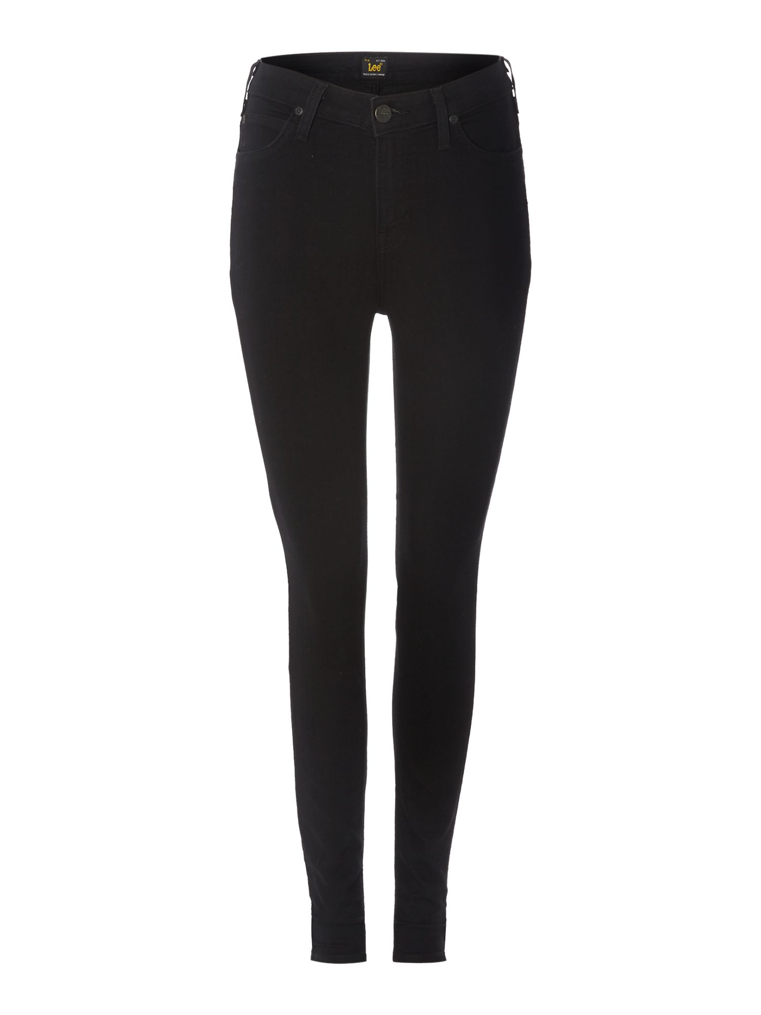 Skyler high waist skinny in black