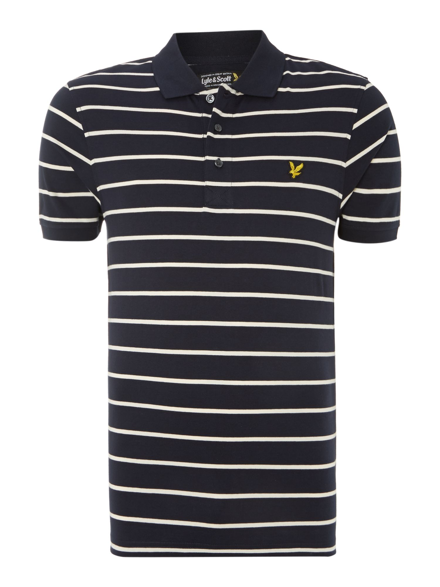 Regular fit breton stripe polo shirt
