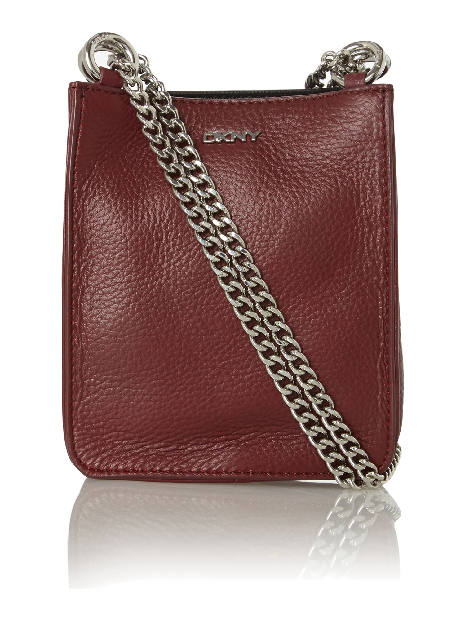 Soft leather red mini cross body