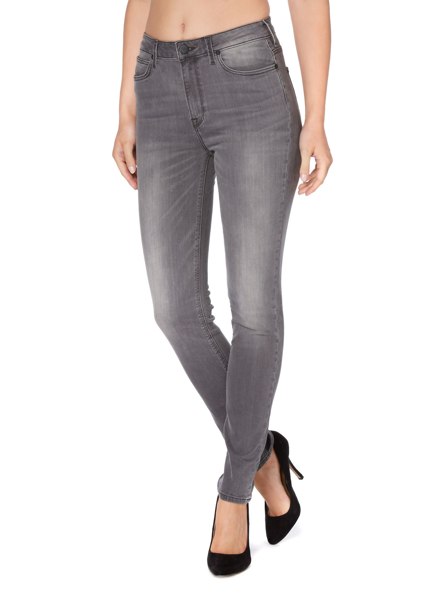 Skyler high waist skinny in chrome wash