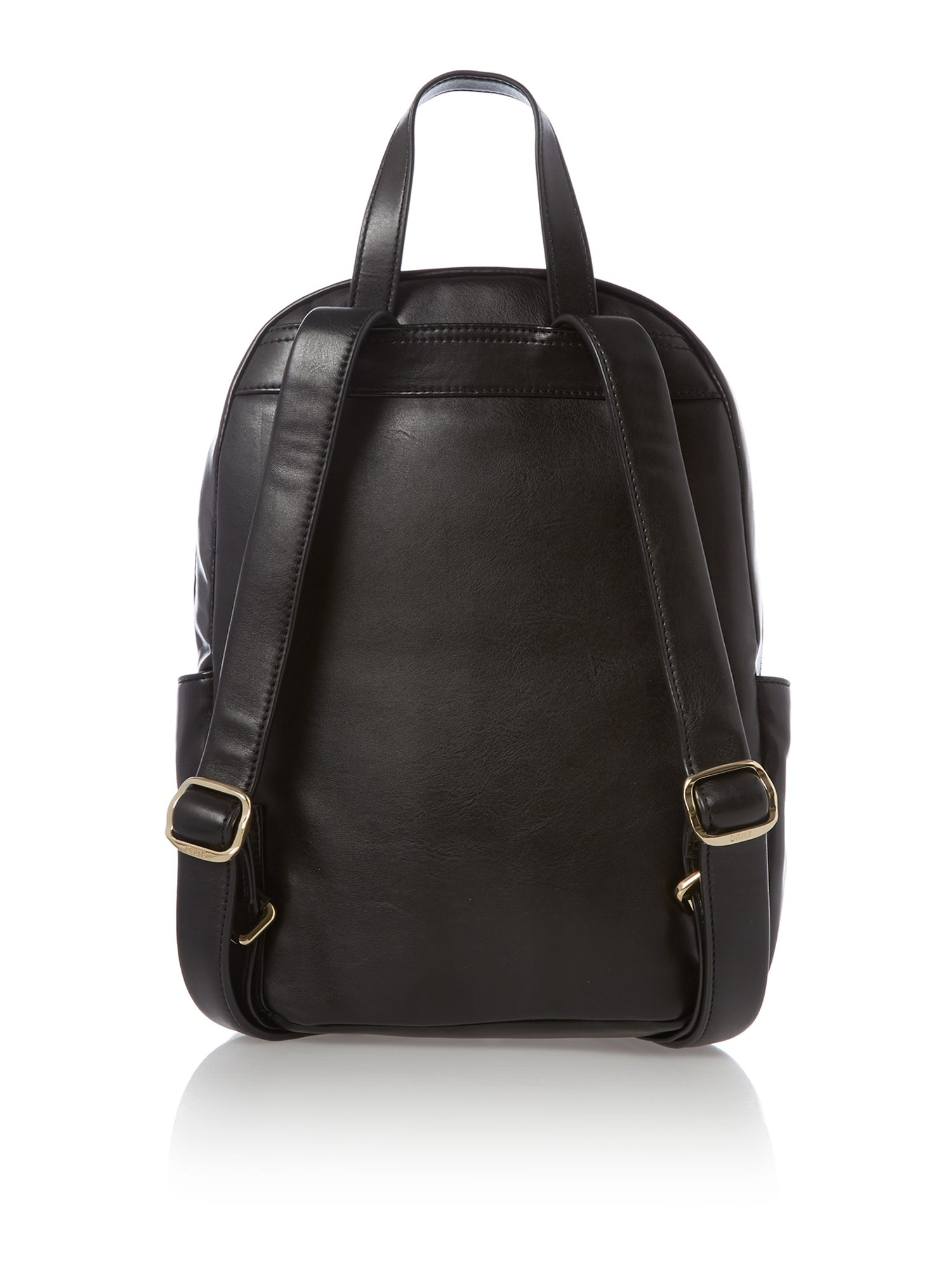 Modern goth black backpack with detail