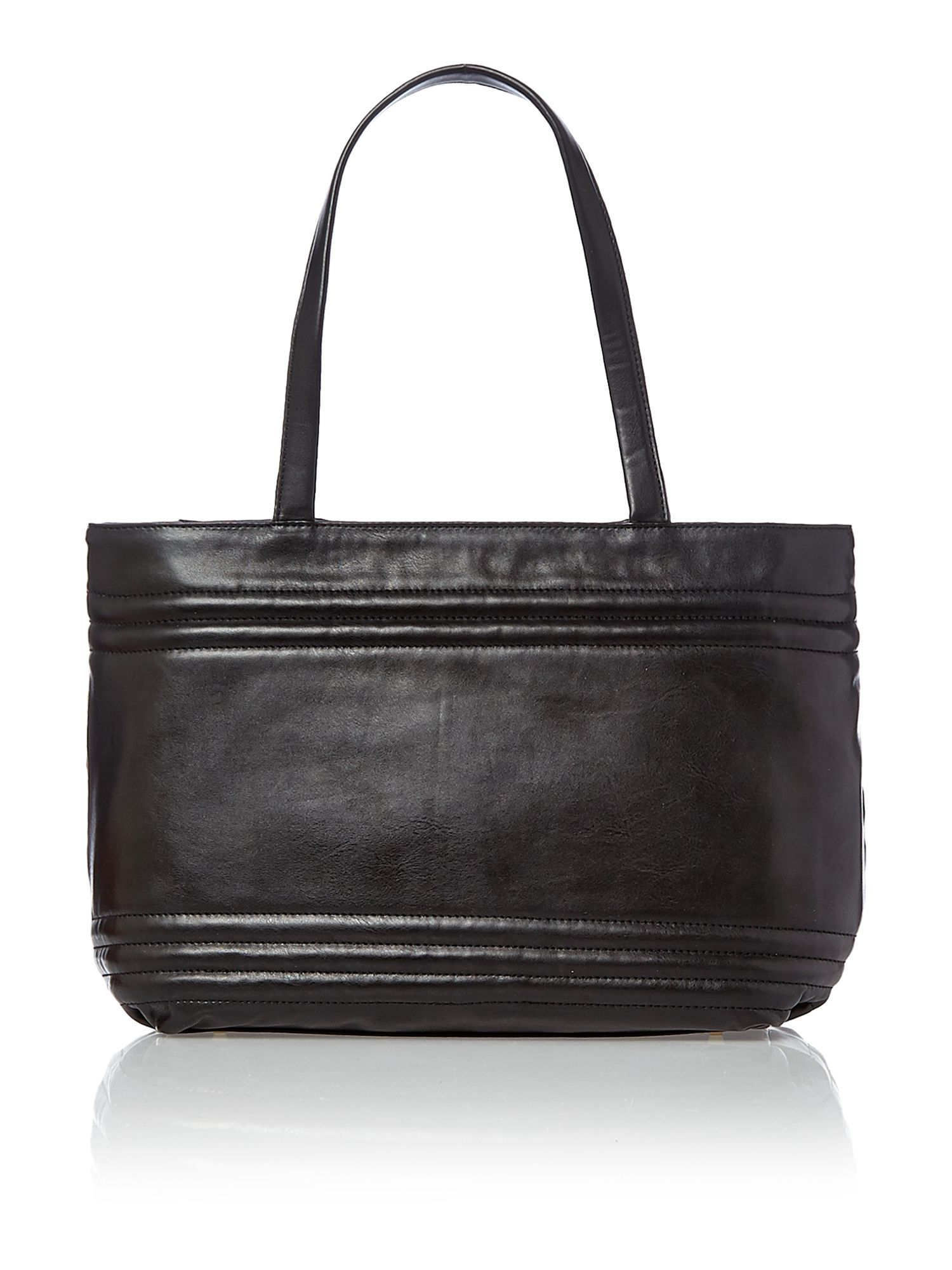 Modern goth black tote bag with detail