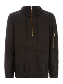 Hooded zip up nylon jacket