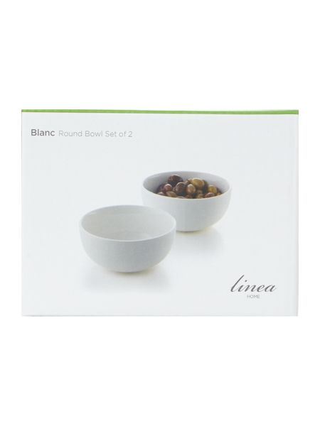 Linea Blanc fine bone china round dip bowl Set of 2