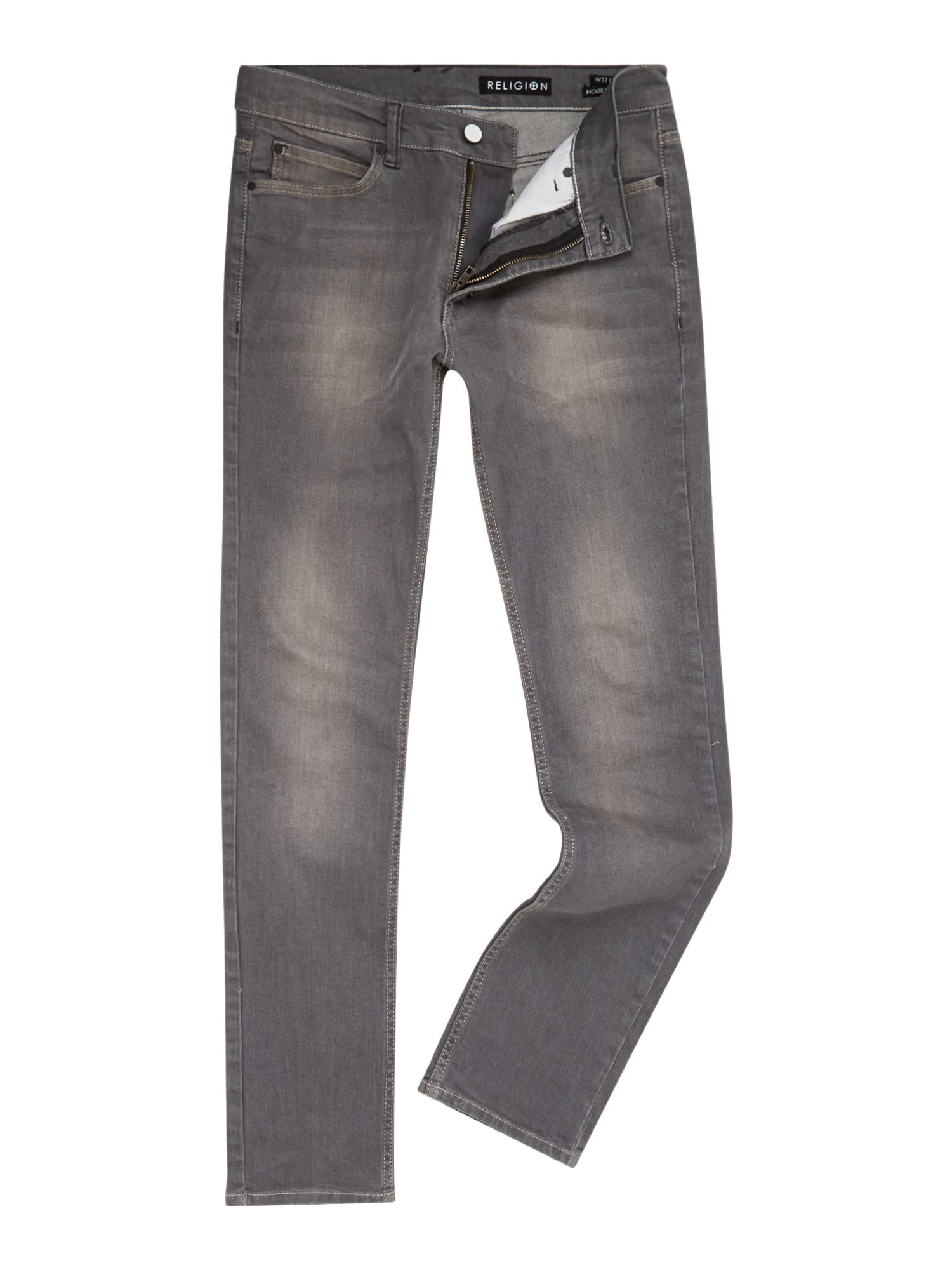 Slim fit acid wash jeans