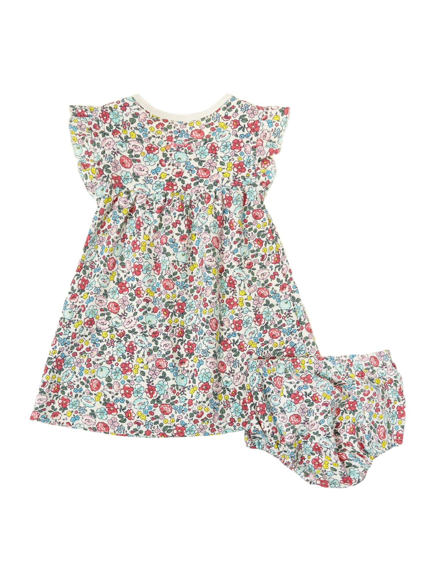 Girls floral print dress with bloomers