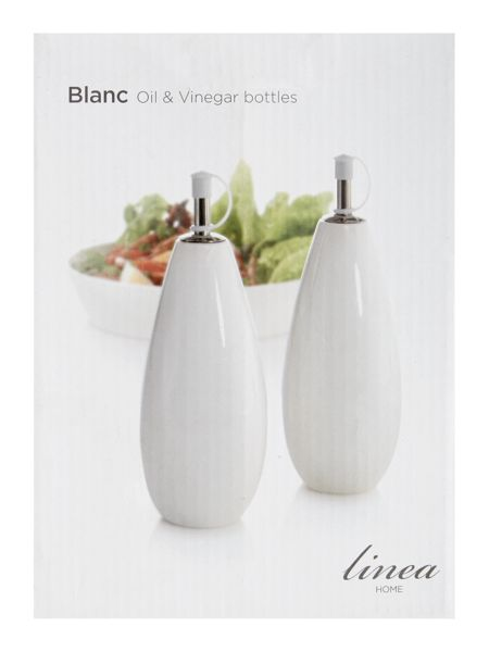 Linea Blanc fine bone china oil and vinegar set