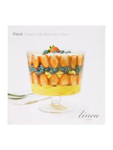 Pave footed trifle bowl 20cm