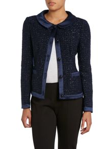 Long sleeve knitted sparkle jacket