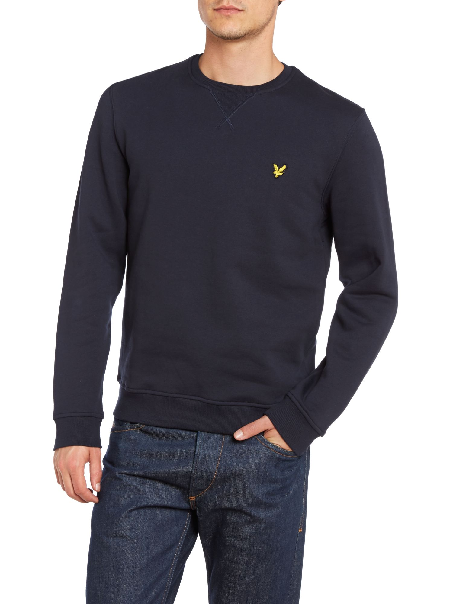 Long sleeve crew neck sweat shirt