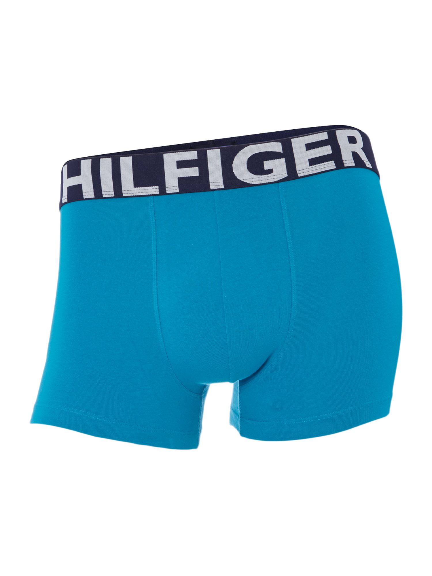 2 pack print and plain underwear trunk