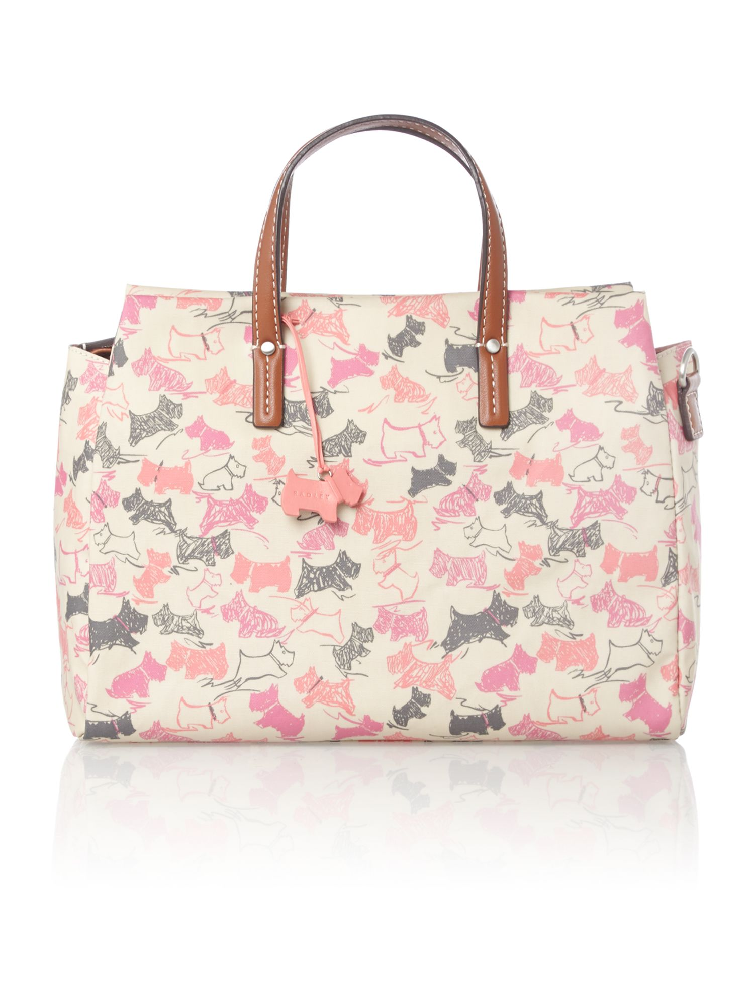 Doodle dog medium ziptop multiway ivory handbag