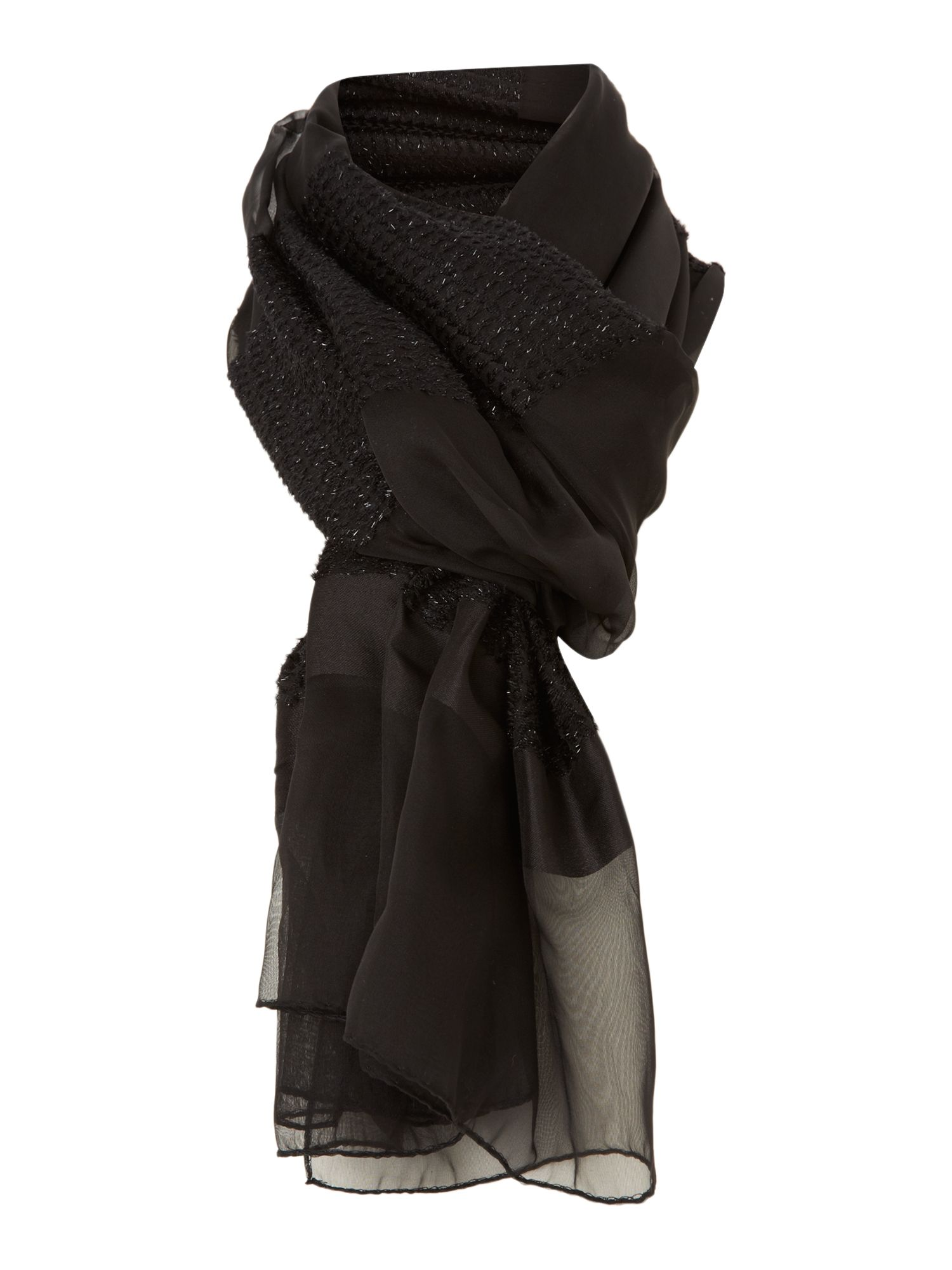 Black sparkle scarf