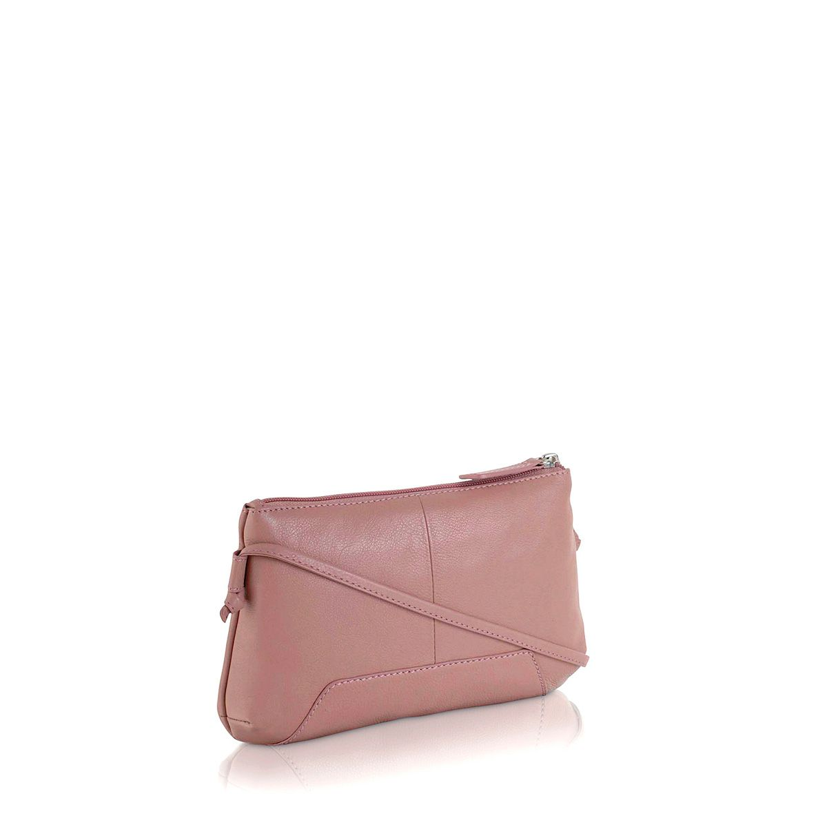 Finsbury small ziptop xbody pink leather bag
