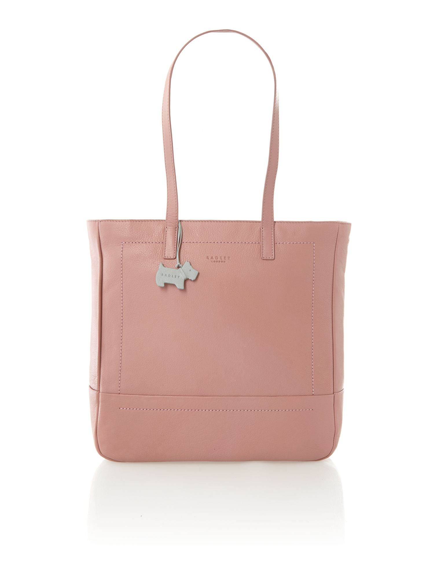 Finsbury large ziptop tote pink leather bag