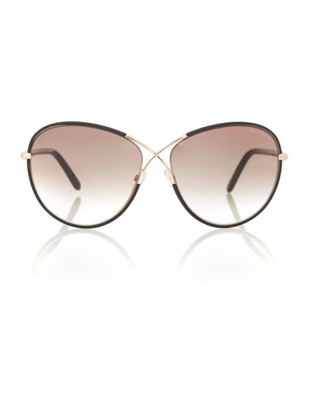 Tom Ford Sunglasses Women`s brown grad square sunglasses