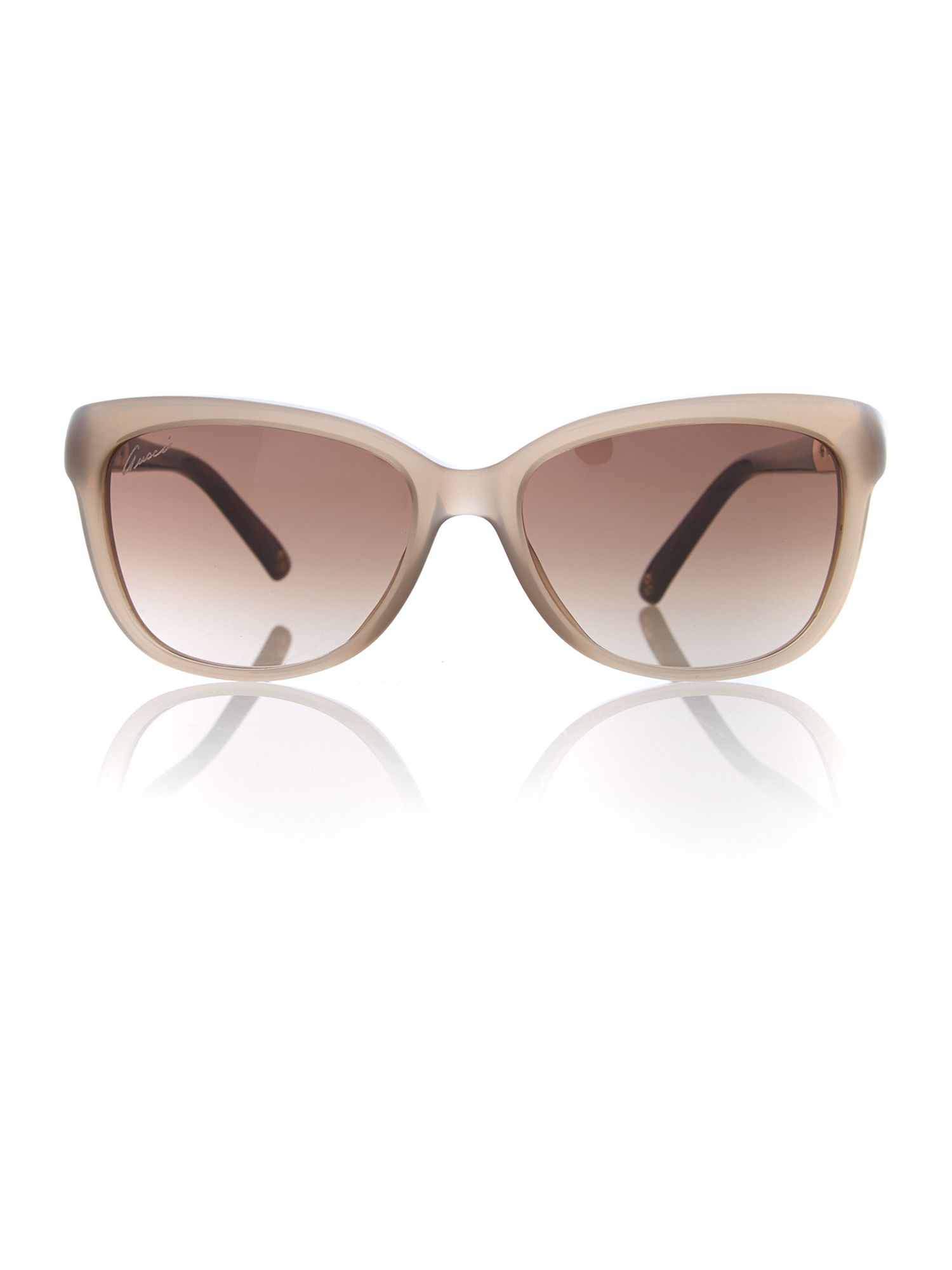Women brown grad squared sunglasses