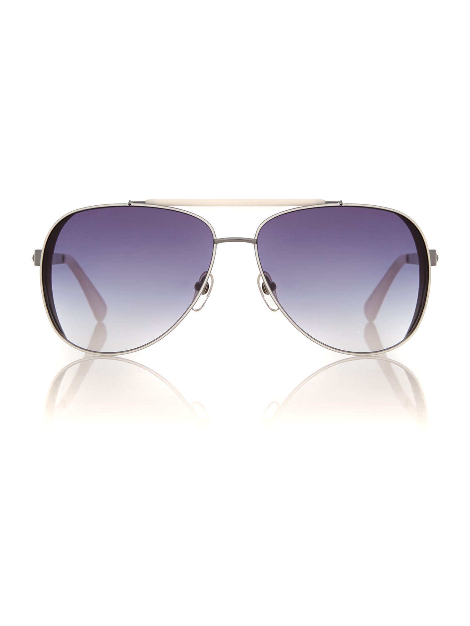Women grey grad pilot sunglasses