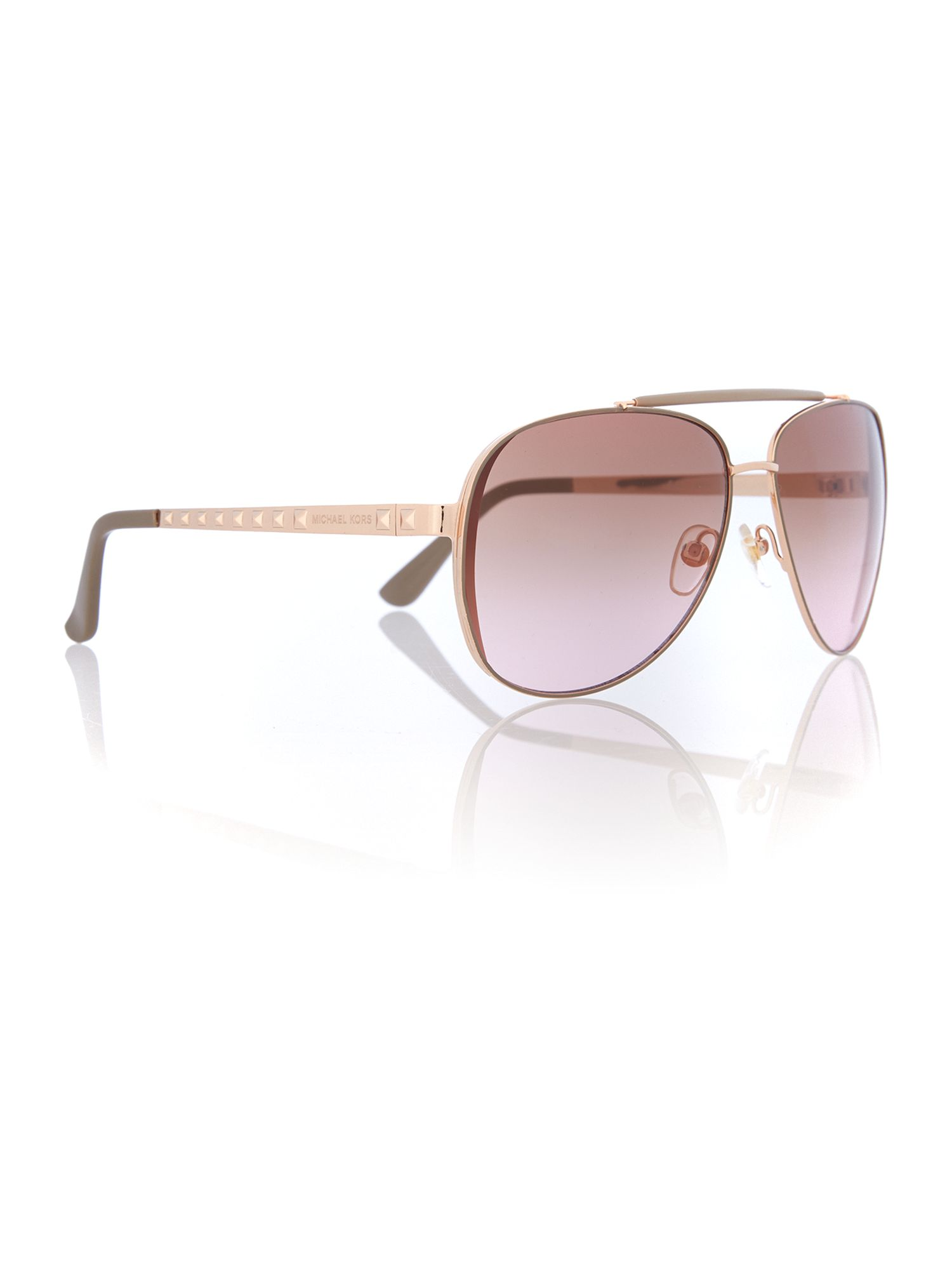Women brown pink pilot sunglasses